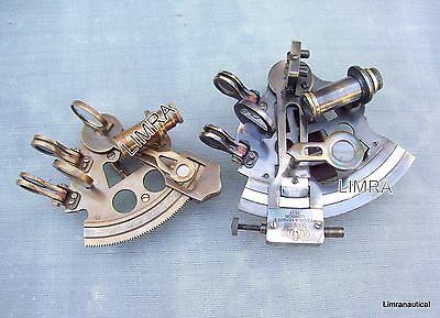 Brass Sextant 2''pices Brass Nautical Antique Sextant 3''size & 5''size