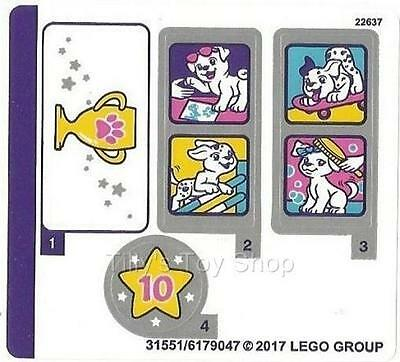 Lego Friends - Stickers Decal Sheet - Puppy Championship - Set 41300 - NEW