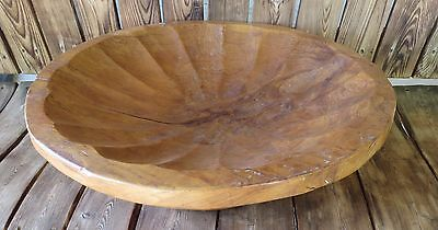 Vintage Large Rare Walnut Hand Made Bowl