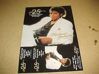 Michael Jackson 25Th Anniv of THRILLER - MINT cndt 2-Sided PROMO ONLY POSTER