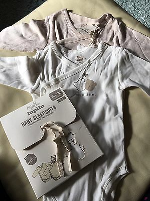 BNWT 4 Brand New Long Sleeve Vests- Unisex - 12-24months