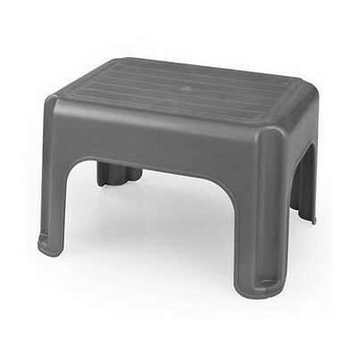 Whitefurze Strong Plastic 40cm Stool Step Up Black Cream or Silver