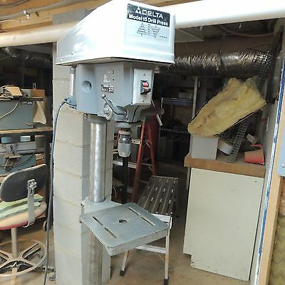 Delta Drill Press Motor 115 Volts 1/2 HP with vise great condition