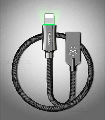 MCDODO LED Auto-Disconnect Lightning USB Charging Data Sync Cord Cable iPhone 7