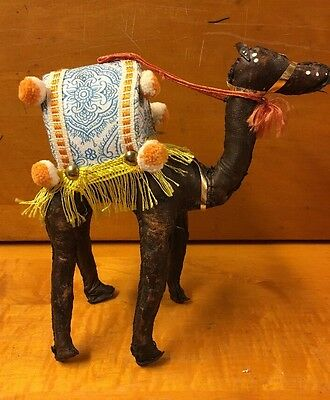 Leather Camel Statue- Stitched 7.5""