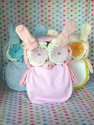 LARGE Cute Owl Nappy Cake ideal gift for Baby Shower / New Born Baby / Mum-to-be