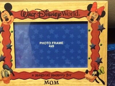 Walt Disney World Mom Picture Photo Frame 4x6 - New In Box! Mickey Minnie Donald