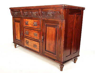 Antique Sideboard Victorian Credenza Sheraton Serpentine Walnut Mahogany Edward