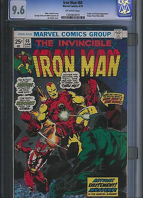 Iron Man # 68 CGC 9.6  Off White Pages. UnRestored.