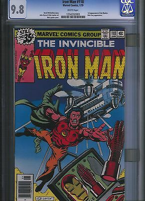 Iron Man # 118 CGC 9.8  White Pages. UnRestored.