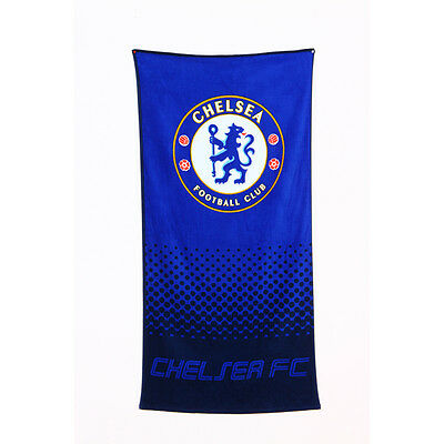Chelsea Fc Fade Design Towel Bath Beach Shower Gym Swim 100% Cotton New Xmas