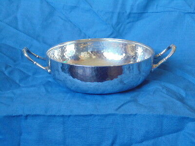 Mappin & Webb Princes Silver Plated Bowl - Hammered Finish - Arts & Crafts Style