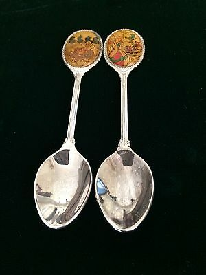 Disney NE Silverplated Spoons lot of 2