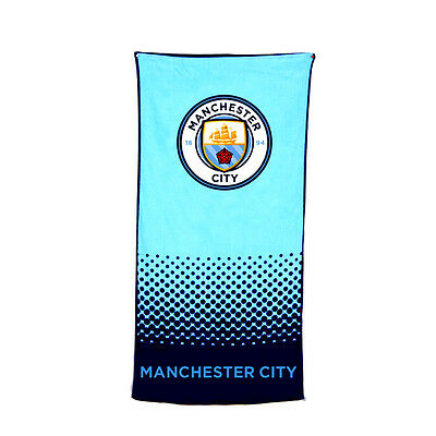Manchester City Fc Fade Design Towel Bath Beach Gym Swim 100% Cotton New Xmas