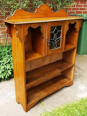 Antique Arts & Crafts Solid Oak Bookcase Display Cabinet Delivery Possible
