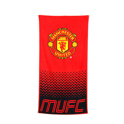 Manchester United Fc Fade Design Towel Bath Beach Gym Swim 100% Cotton New Xmas
