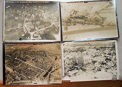 4 Original WW1 5x7 Aerial Photos of different areas of France. Credit 10th Photo