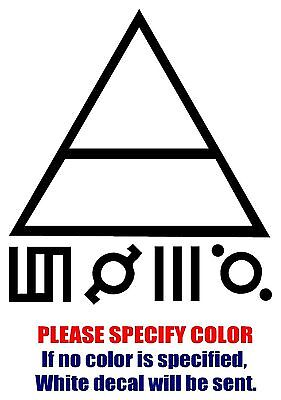 """Thirty 30 Seconds To Mars Graphic Die Cut decal sticker Car Truck Boat Window 6/"""""""