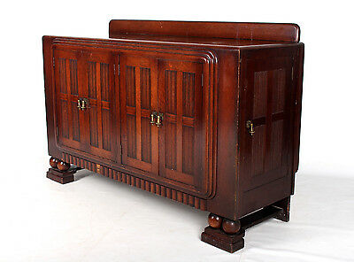 Antique Oak Sideboard Edwardian Credenza Carved Drinks Cabinet