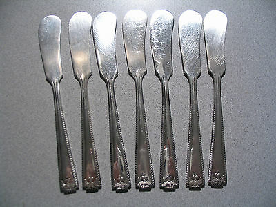 Set of 7 Viceroy Plate VICEROY ONE Silverplate Flat Butter Knives By National