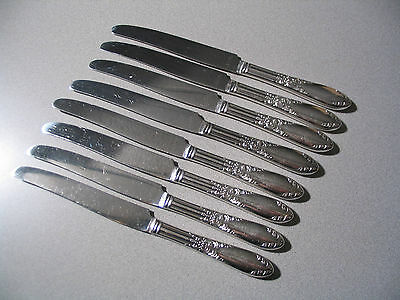 8 National Silver Co 1951 KING EDWARD Silverplate Dinner Knives  No Monogram