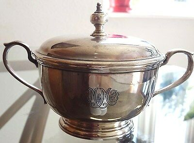Antique Tiffany & Co Sterling 925 Silver Lidded Sugar Bowl
