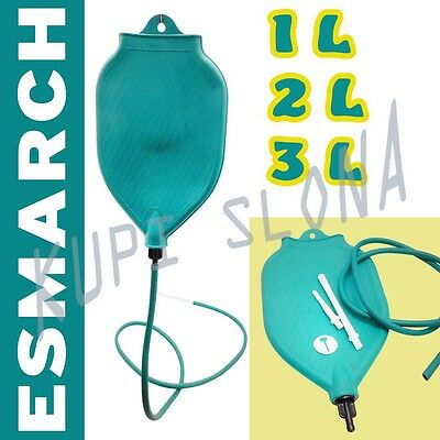 1L 2L 3L Rubber Esmarch'S Irrigator Enema Mug Irrigation Cleansing Weight Loss