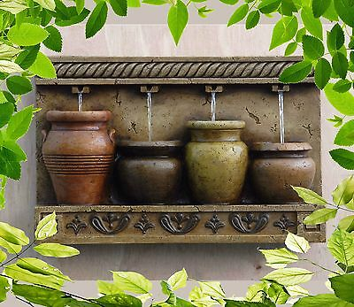 Wall Mount Water Fountain Indoor Outdoor Vintage Decor Garden Porch Weatherproof