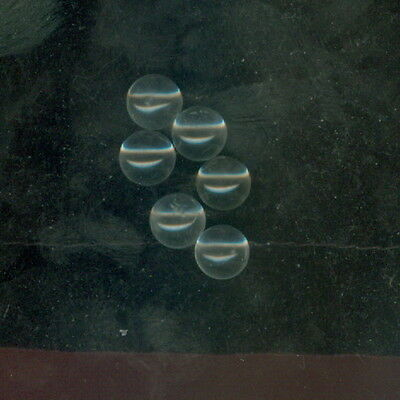 Package of 6 ~ Genuine 8mm Clear Quartz Undrilled Spheres / Balls ~ NO HOLE