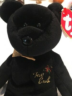 "Ty Beanie Babies ""The End"" Bear 1999 With RARE Tag"