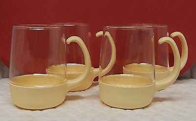 Set of 4 Pyrex Ware Corning 1982 McDonalds Mugs Cups