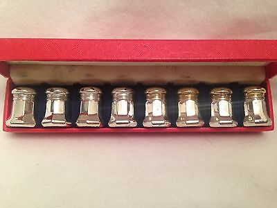 Vintage Sterling Silver CARTIER Salt and Pepper Shakers in Original Box Set of 8