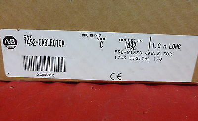 Allen-Bradley 1492-Cable010A *new* Plc Cable Prewired For 1746-Ia16 (14C0)