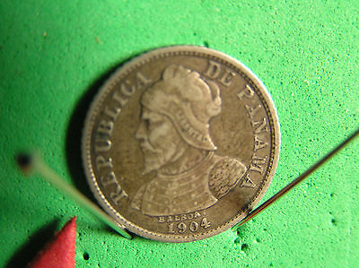 L-too: 1904 PANAMA 5 CENTISIMI ~~ FIRST YEAR ~ SIZE & SILVER CONTENT OF U.S.DIME