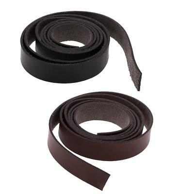 2 Meters 15/20mm Leather Strap Strips Leather Craft Belt Bag Handle DIY Crafts