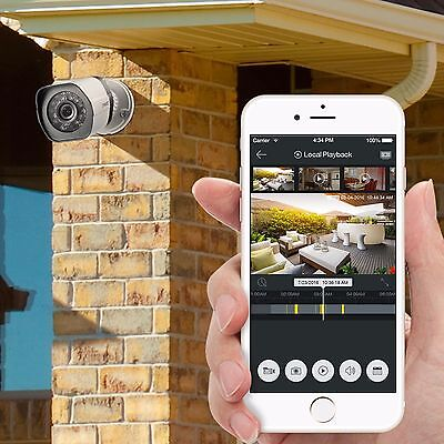 Smartphone live watch Home Security System Camera 1080p 8CH HDMI NVR w/ 8 720p