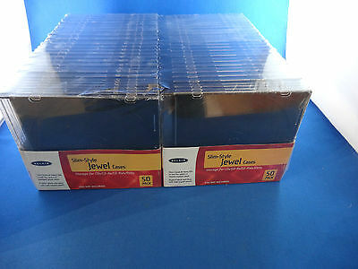 New 100 Pack BELKIN Slim Style Jewel Cases for CD's DVD's