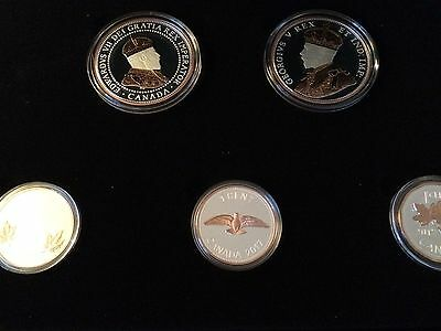 2017 CANADA Legacy of Penny 5 Coin SILVER Proof Cents Set w/ Rose Gold Plating