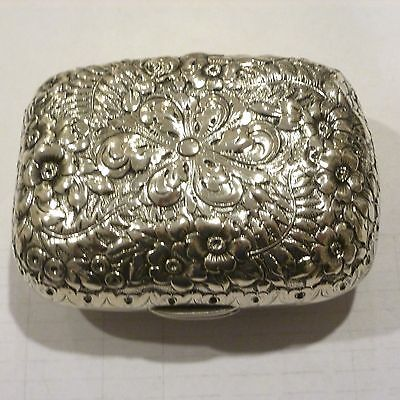 ANTIQUE 1800s TIFFANY & CO FLORAL STERLING SILVER SOAP DISH
