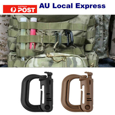 Outdoor Tactical Gear Carabiner Backpack Keychain D-Ring Spring Snap Clip SU