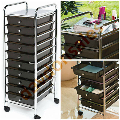 Drawer Organizer Cart Rolling Mobile Storage Home Office Workshop Tool Craft