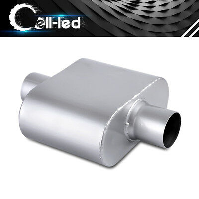High Flow Two Chamber Muffler 2.5 inches Center In//Out Black 212304