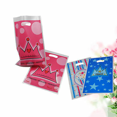 6 Pieces/set Princess Prince Crown Pattern Gift Bag Party Favors Supply Souvenir
