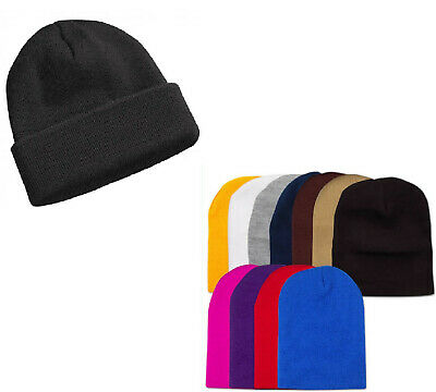 MEN MENS Womens Winter Ski Thermal WARM Knit Knitted BEANIE HAT Cap  NEW BULK