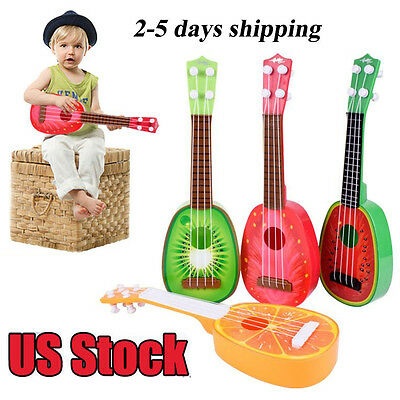 Children Learn Guitar Ukulele Mini Fruit Can Play Musical Instruments Toys USA