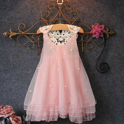 Princess Baby Girl Dress Kids Child Flower Party Wedding Lace Tulle Tutu Dresses