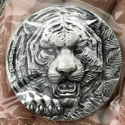 2015 China 80g Silver Medal - Lunar Year of the Tiger Shanghai Mint COA
