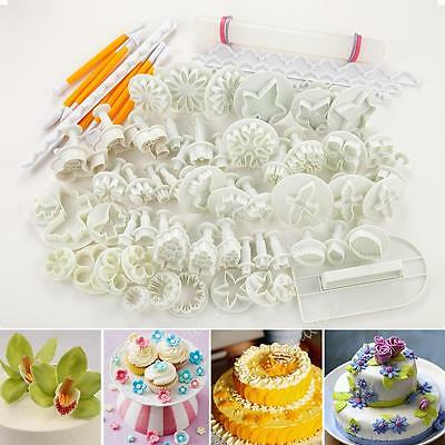68pcs Cake Decorating Fondant Sugarcraft Icing Plunger Cutters Tools Mold Mould