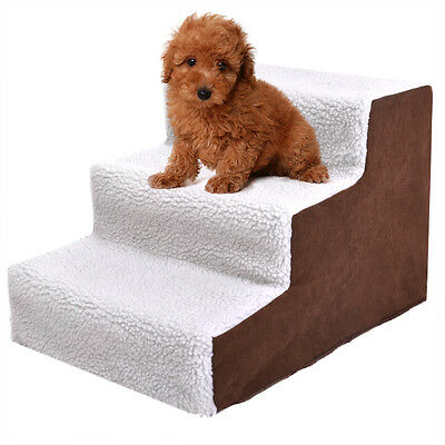 Pet Stairs 3 Steps Soft Portable Cat Dog Animal Step Ramp Small Climb
