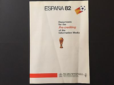 World Cup 82. Documents for the Pre-crediting of the Information Media